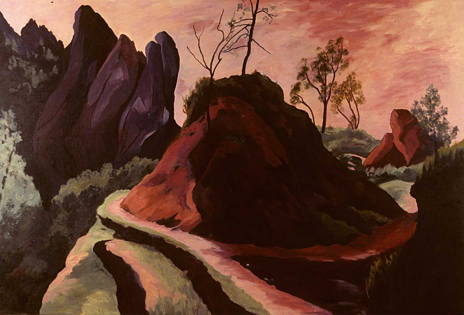 Pinnacles #8, Oil pastel on paper, Paintings of California by Mary Alice Copp