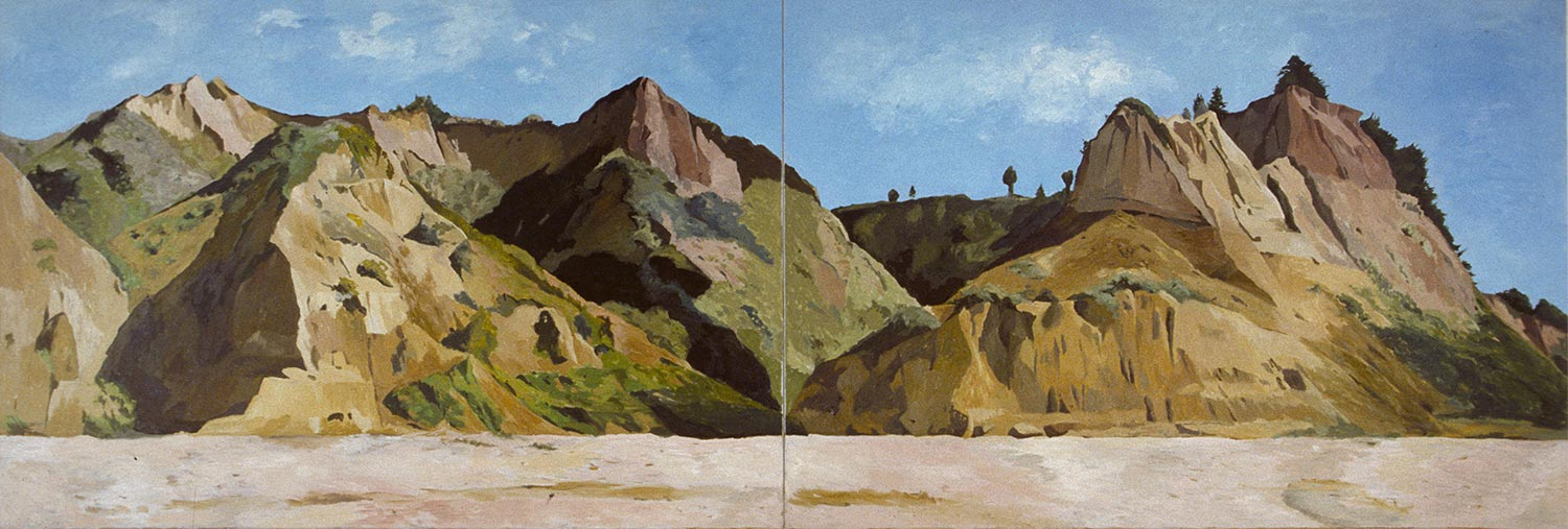 Panorama #1, Oil pastel on paper, Paintings of California by Mary Alice Copp