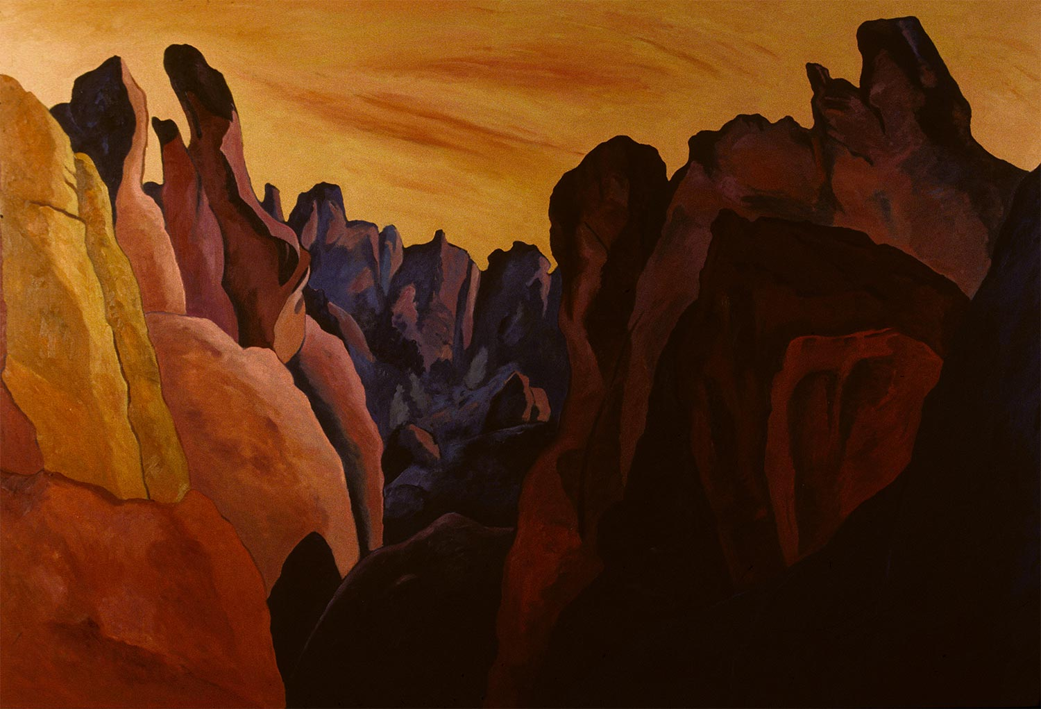 Pinnacles #9, Oil on canvas, Paintings of California by Mary Alice Copp