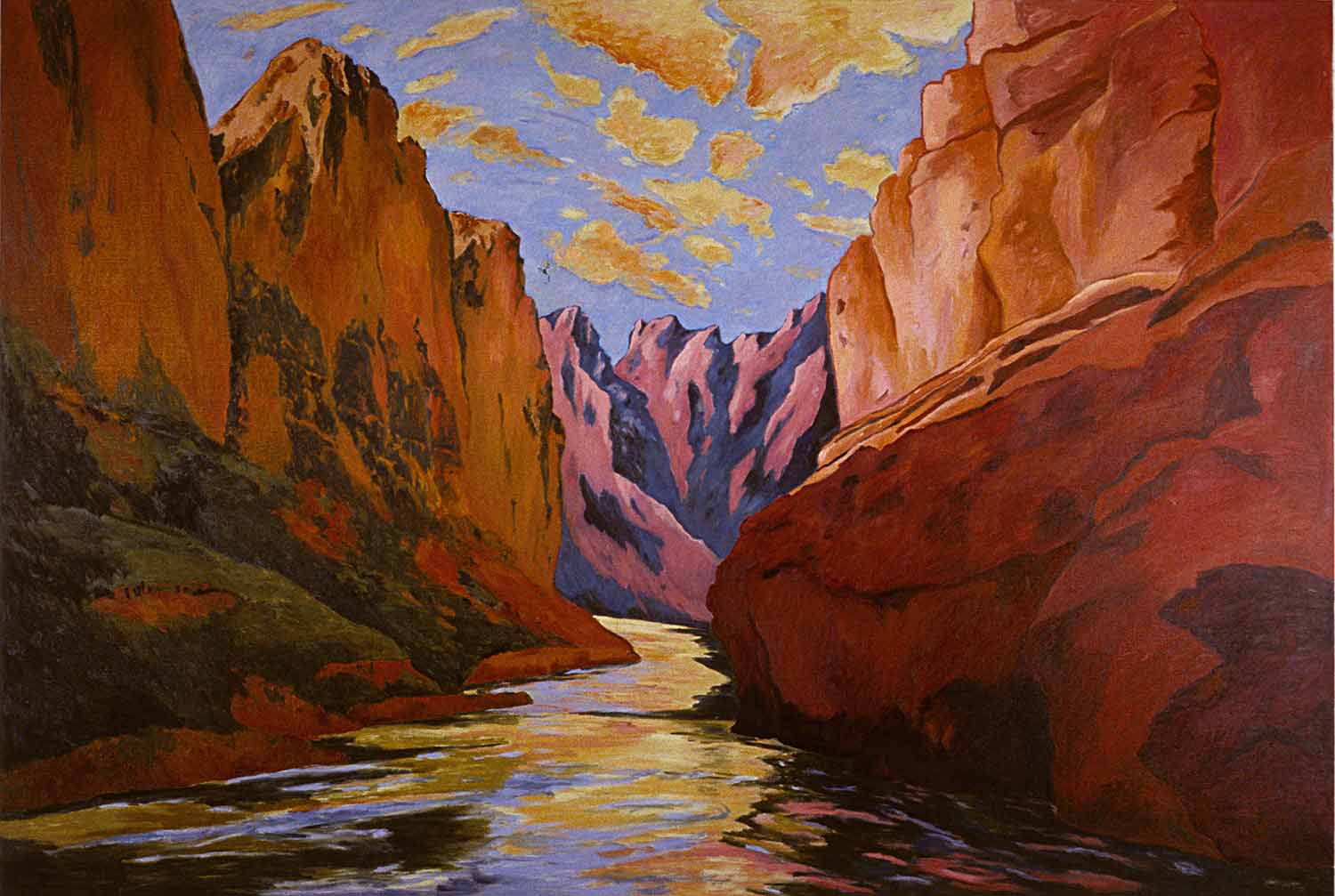 Grand Canyon #4, Oil on canvas, Paintings of California by Mary Alice Copp