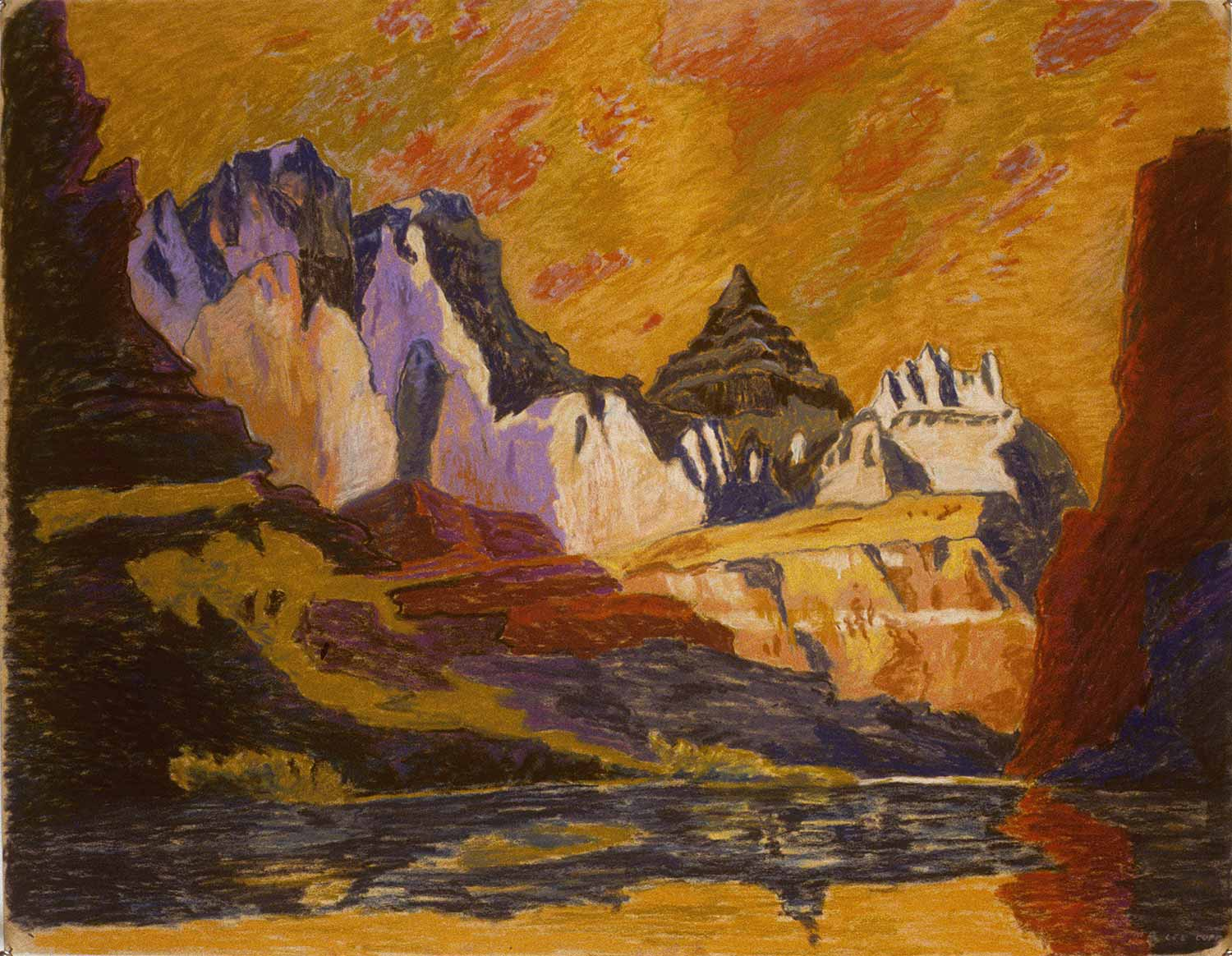 Grand Canyon #12, Oil pastel on paper by Mary Alice Copp