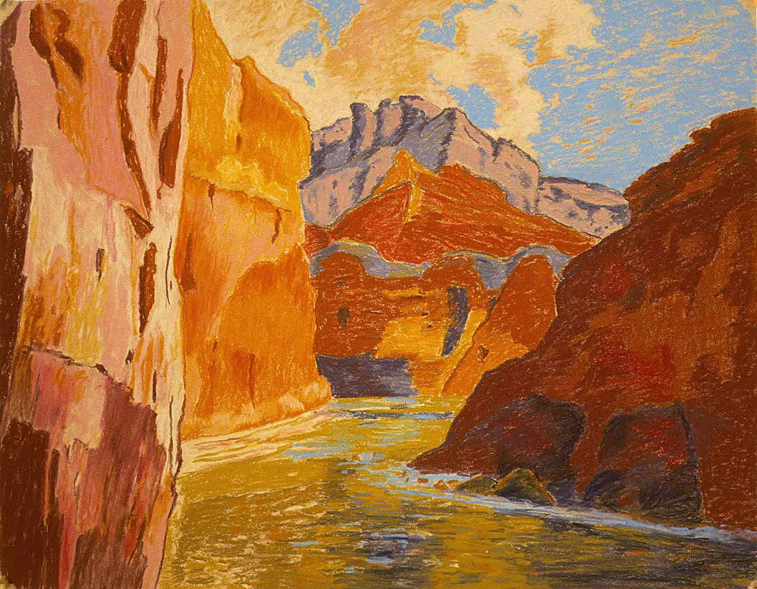 Grand Canyon #10, Oil pastel on paper by Mary Alice Copp