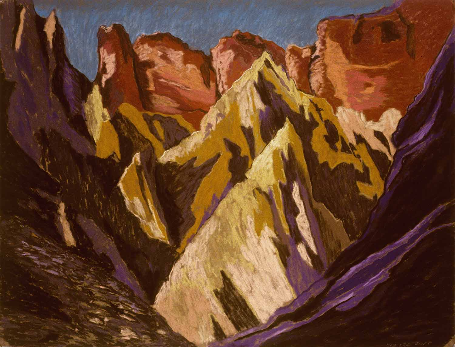 Grand Canyon #6, Oil pastel on paper by Mary Alice Copp