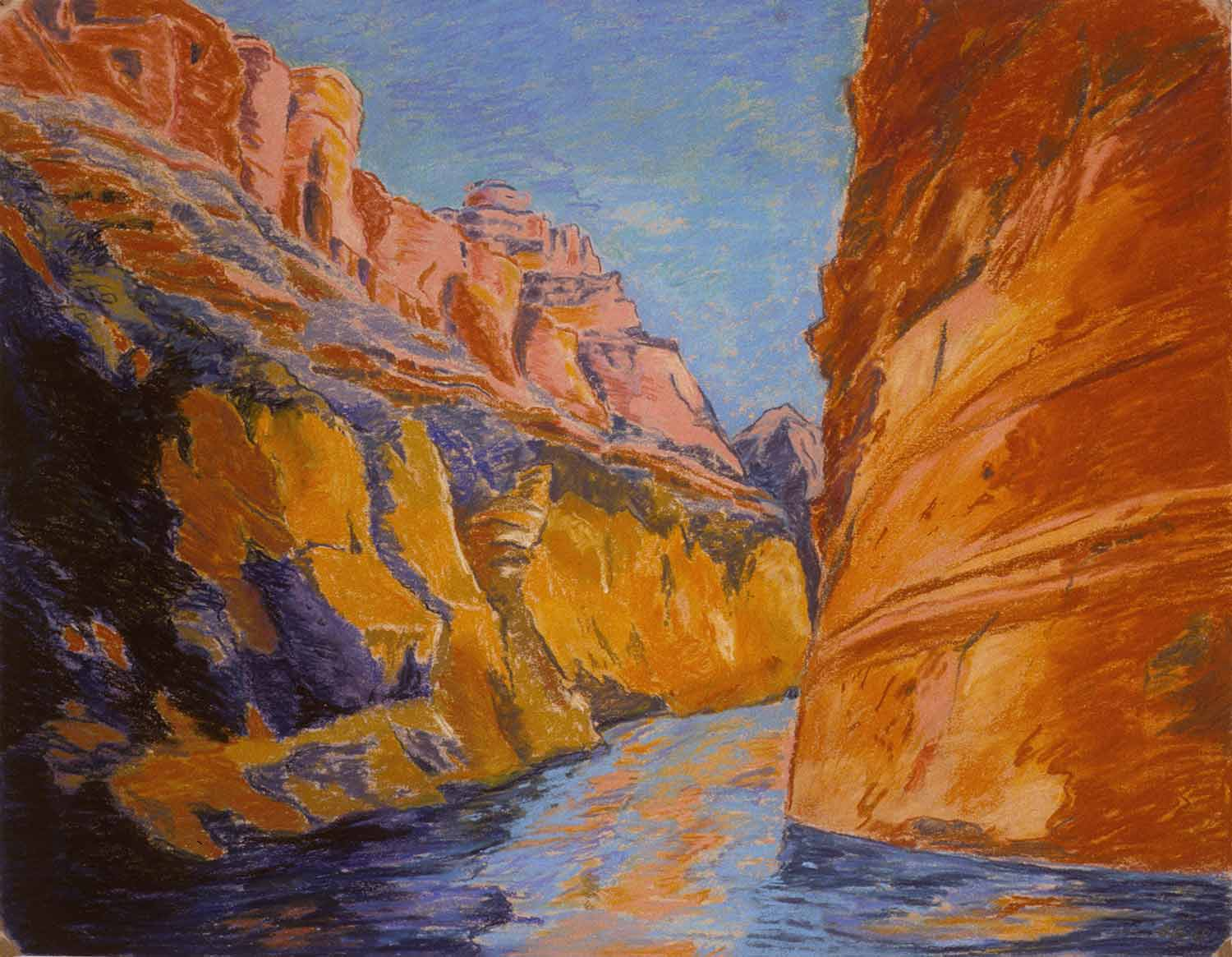 Grand Canyon #25, Oil pastel on paper by Mary Alice Copp