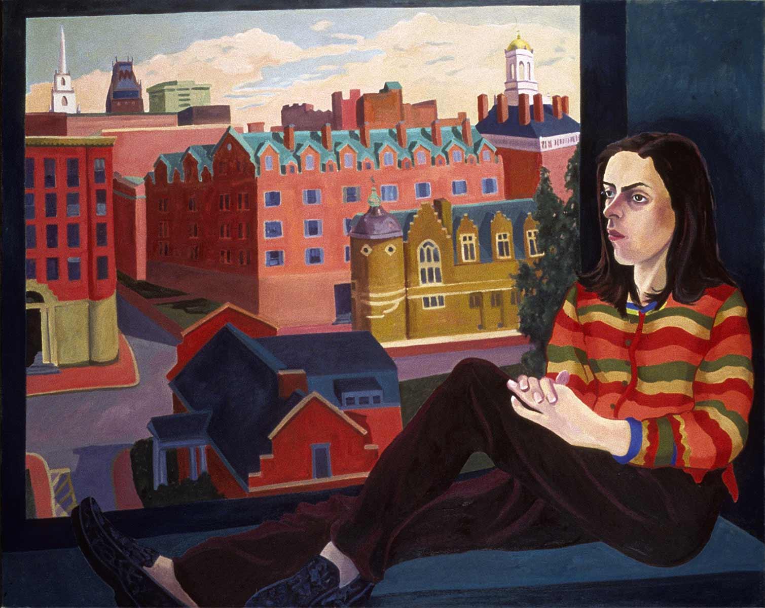 Kosovo to Cambridge: Amella, Figurative oil painting by Mary Alice Copp