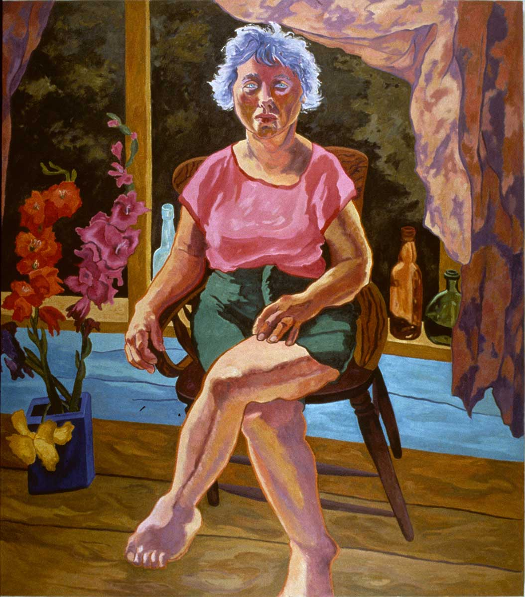 Carol at the Barn, Figurative oil painting by Mary Alice Copp