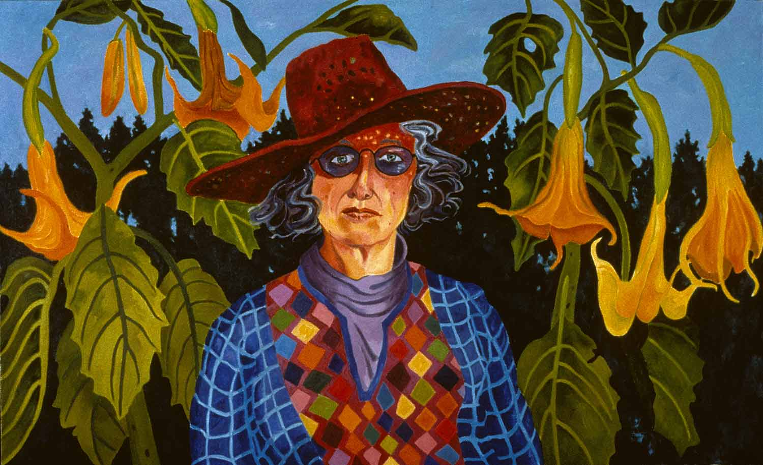 Fear of Lyme, Figurative oil painting by Mary Alice Copp