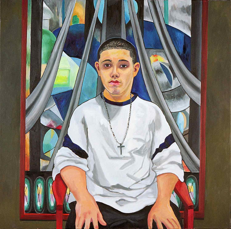 Eligio Ramos, Portraits of Science Explorers, Newark, Oil on canvas, Mary Alice Copp