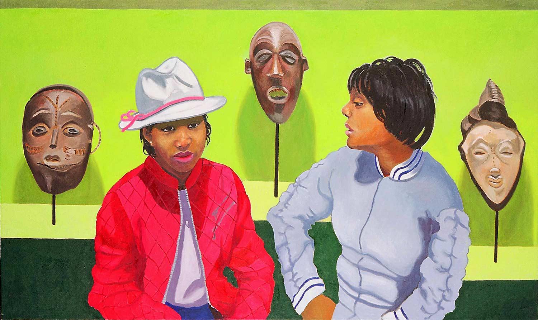 Alisha Ricks and Nicole Pickett, Portraits of Science Explorers, Newark, Oil on canvas, Mary Alice Copp