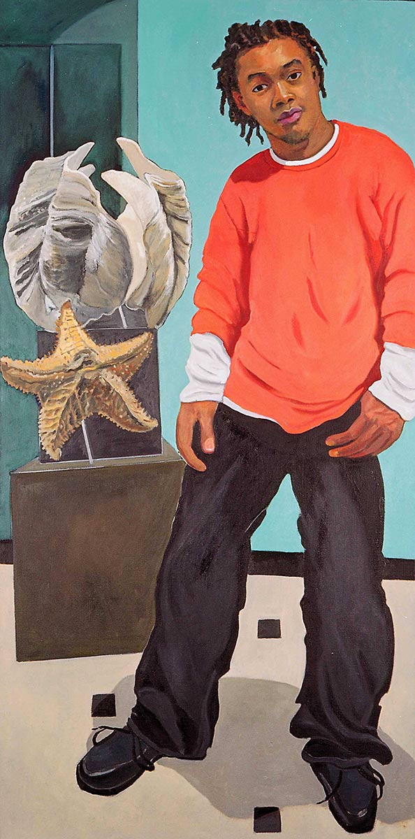 Ryan Silver, Portraits of Science Explorers, Newark, Oil on canvas, Mary Alice Copp