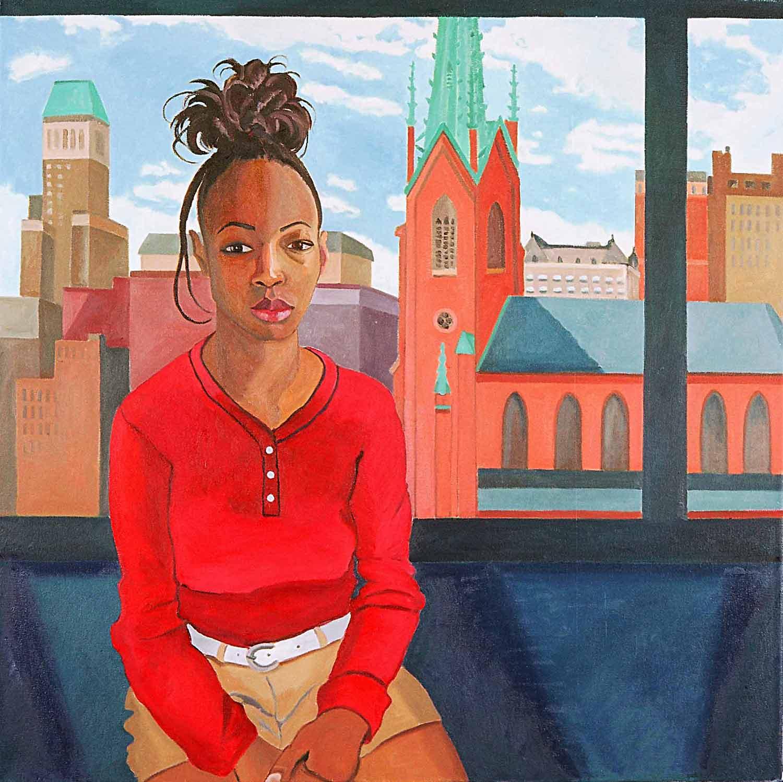 Katrina Mercer, Portraits of Science Explorers, Newark, Oil on canvas, Mary Alice Copp