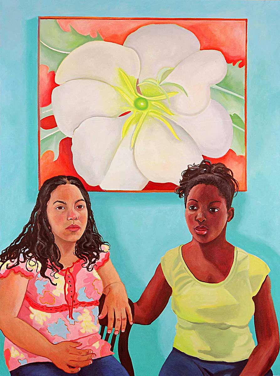 Sharon Rojas and Simone Raymore, Portraits of Science Explorers, Newark, Oil on canvas, Mary Alice Copp