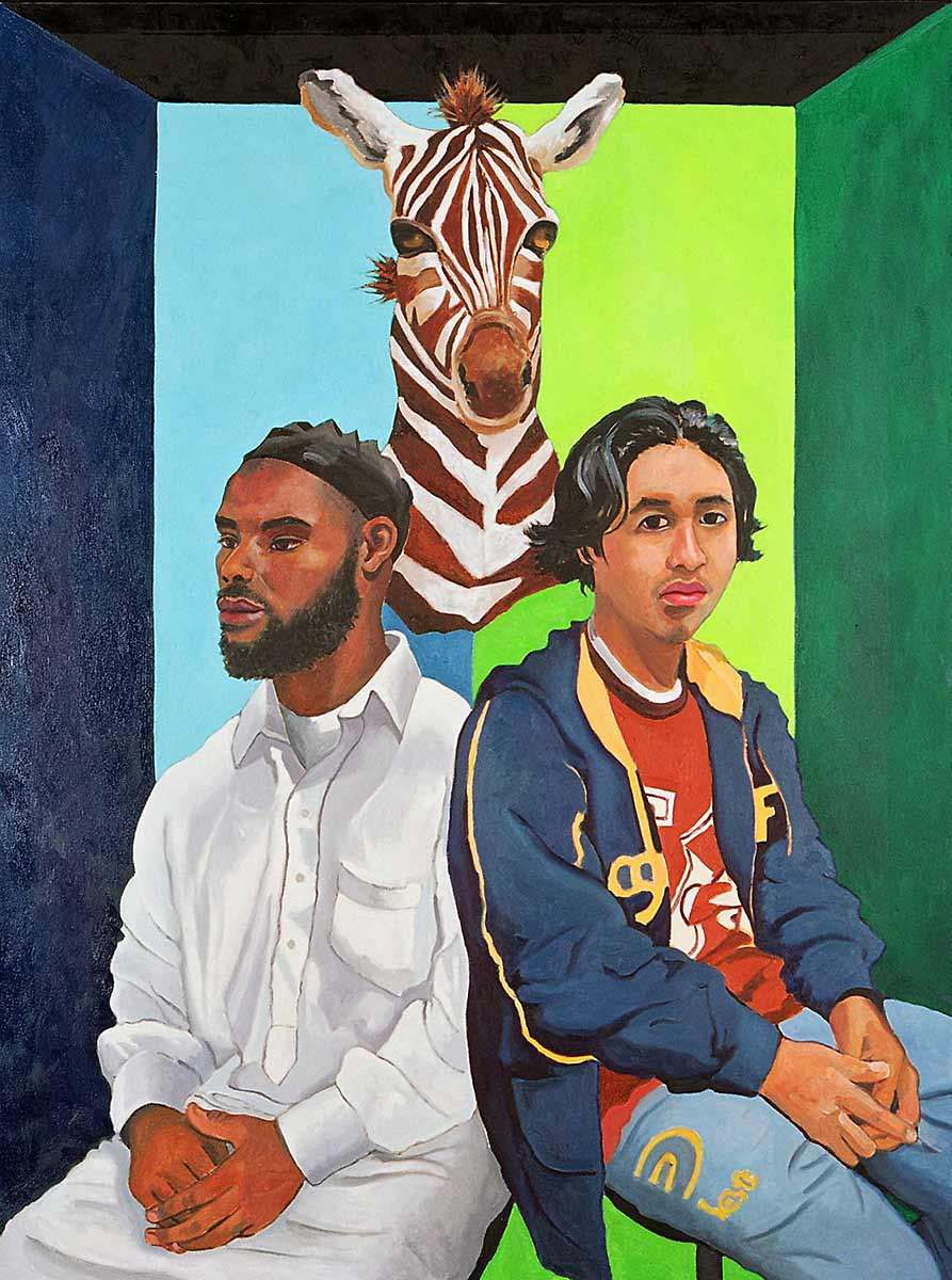 Akeem Smith and Lionel Camacho, Portraits of Science Explorers, Newark, Oil on canvas, Mary Alice Copp