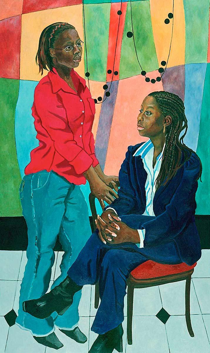 Mayowa Falae and Tiffany Morris, Portraits of Science Explorers, Newark, Oil on canvas, Mary Alice Copp
