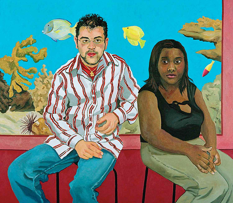 Mark Cerqueria and Dominique Jones, Portraits of Science Explorers, Newark, Oil on canvas, Mary Alice Copp