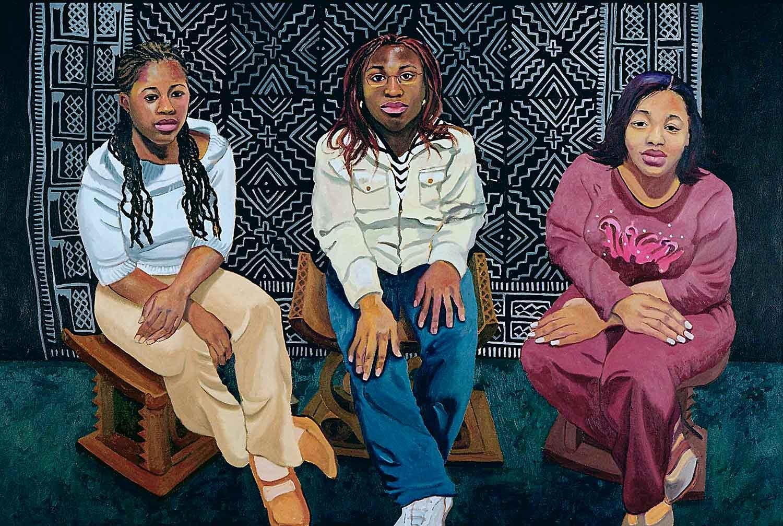 Demetria Wertz, Doyin Aderinto, Serena Payton, Portraits of Science Explorers, Newark, Oil on canvas, Mary Alice Copp