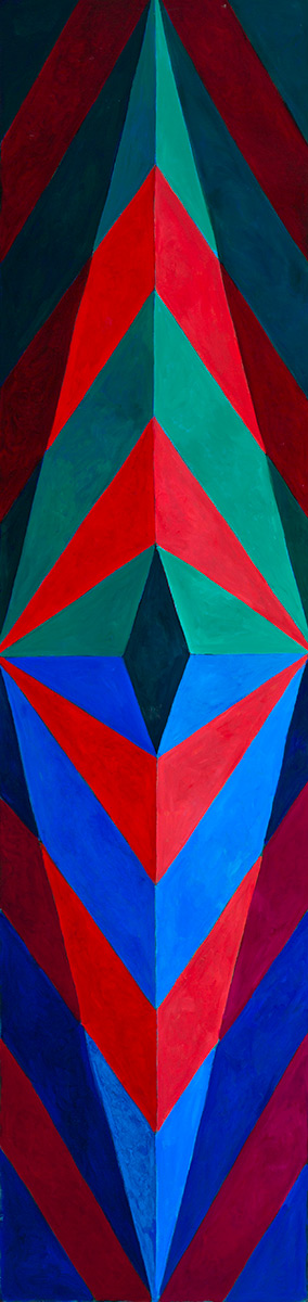 Painting, Tall Shields, Oil on paper, Mary Alice Copp