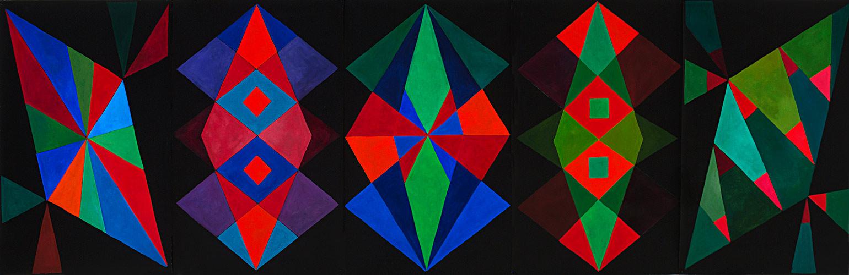 Diamonds Jubilee, Oil on paper, Mary Alice Copp