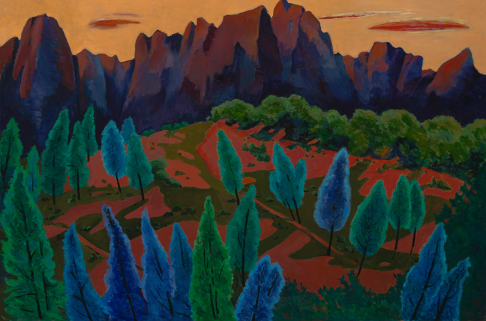 Red Pinnacles, Painting of California, Oil on canvas, Mary Alice Copp