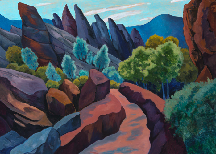 Pink Pinnacles, Painting of California, Oil on canvas, Mary Alice Copp