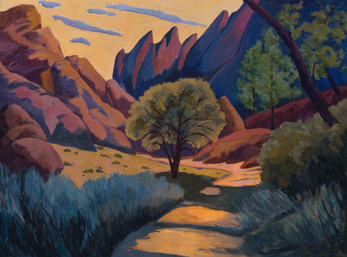 Golden Pinnacles, Painting of California, Oil on canvas, Mary Alice Copp