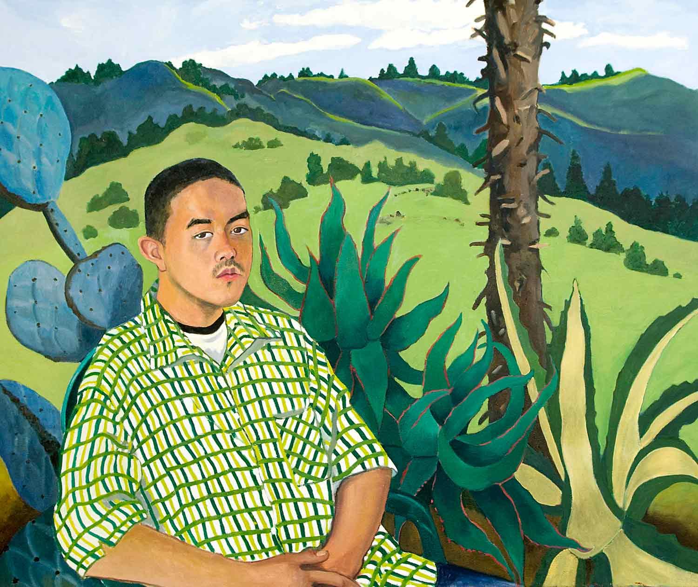 Fernando Ochoa, YES Portrait, Oil pastel on paper by Mary Alice Copp Portrait painting, Oil pastel on paper by Mary Alice Copp