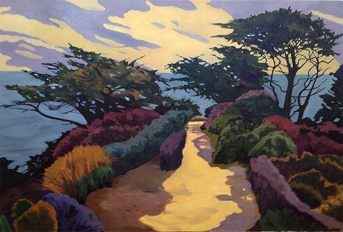 Path At Point Lobos, Painting of California, Oil on canvas, Mary Alice Copp