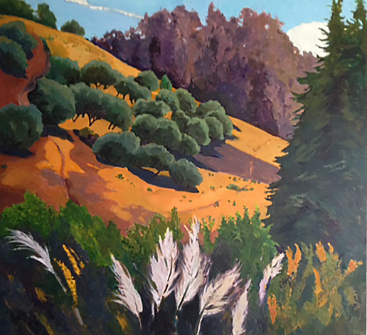 Off San Andreas Rd., Painting of California, Oil on canvas, Mary Alice Copp