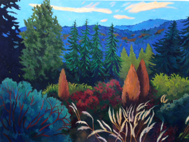 View from 17, Painting of California, Oil on canvas, Mary Alice Copp