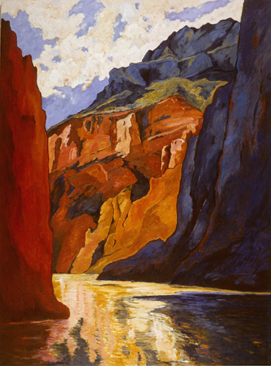 Grand Canyon #3, Oil on canvas, by Mary Alice Copp