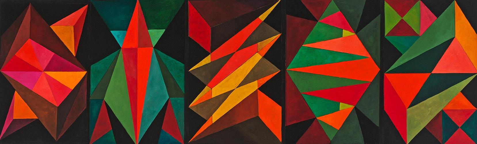 Triangularity, Oil on paper, Mary Alice Copp